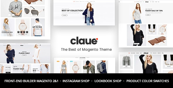 Claue v1.8.4 - Clean, Minimal Magento 2 and 1 Theme